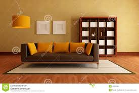 brown and orange living room stock image image 13153381