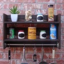 Wall Cabinet Spice Rack Wall Mounted Utensil Rack Foter