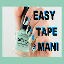 nail polish designs with tape