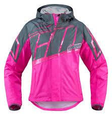 womens motorcycle jacket icon women u0027s pdx 2 waterproof nylon motorcycle rain jacket pink