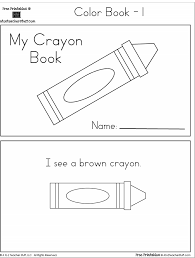 crayon colors printable book teacher stuff printable
