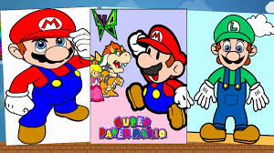 super mario bros coloring pages coloring book youtube