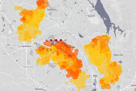 California Wildfire Fire Map by Northern California Wildfires San Francisco Chronicle