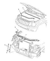 radiator for 2003 jeep grand 55136170ac genuine mopar bracket radiator