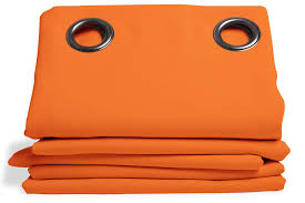 Orange Thermal Curtains Blackout Curtains And Linings By Moondream