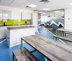 Industrial And Rustic Designs Resurfaced Blue Jelly Atp Office Design Workplace Commercial Corporate