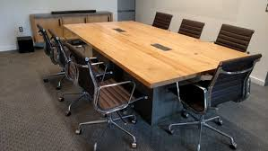 Football Conference Table Reclaimed Wood Conference Table And Pipe Base Within Decorations 5