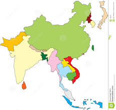 South Asia Political Map by South East Asia Map Royalty Free Stock Photos Image 748218