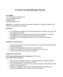 Property Management Resume Template Assistant Property Manager Resume Sample Assistant Manager Resumes