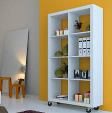mirror room divider furniture sparkling bookshelf room divider with white flooring