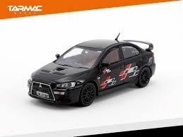 mitsubishi black cars tarmac works 1 64 mitsubishi lancer evolution x ralliart edition