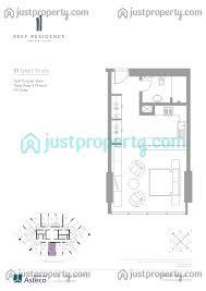 Floor Plan Studio Type Reef Residence Floor Plans Justproperty Com