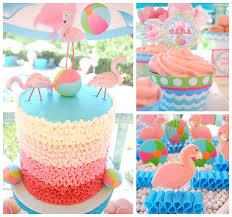 kara u0027s party ideas flamingo pool party