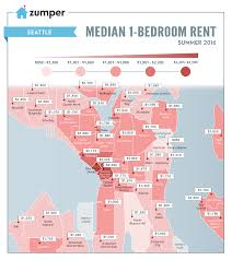 Seattle Map Downtown by Seattle U0027s Summer Median Rental Prices Mapped Curbed Seattle