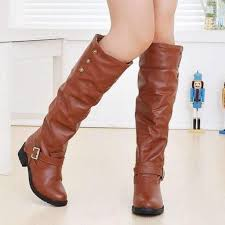 s boots knee high brown knee high faux fur leather boots dress for less