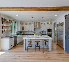 modern country kitchen with oak cabinets new construction modern farmhouse design ideas home bunch