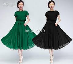 summer dresses fashion women short sleeve chiffon dress plus size