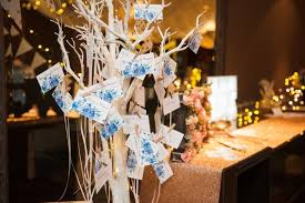 wishing tree cards wedding guest well wishes props crafts