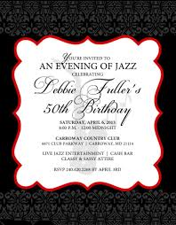 template lovely 50th birthday invitations cards with red hd