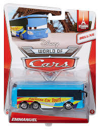 cars disney amazon com disney world of cars deluxe emmanuel vehicle toys u0026 games