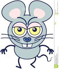 funny mouse showing a naughty mood stock vector image 85422815
