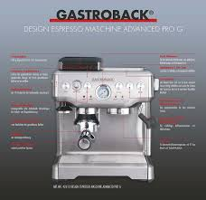 gastroback 42612 design espressomaschine advanced pro g de gastroback 42612 design espressomaschine advanced pro g