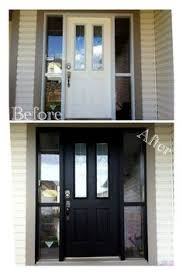 Painting Exterior Doors Ideas Diy Lessons Learned Painting My Front Door Black Painted Front