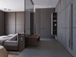 master bedroom with open bathroom design decorin