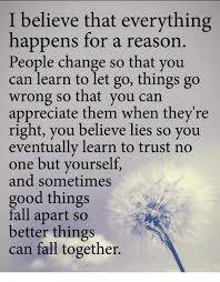 People Change Memes - i believe everything happens for a reason people change so you