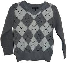 boys grey print sweater