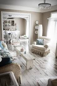 Shabby Chic White  Pastel Living Room In A Beach Cottage Take - Shabby chic beach house interior design