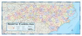 Map Of South Carolina Counties North Carolina Counties Wall Map Maps Com