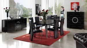 modern formal dining room sets eco leather modern formal dining room table w chrome legs