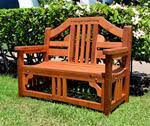 custom redwood benches made in u s a