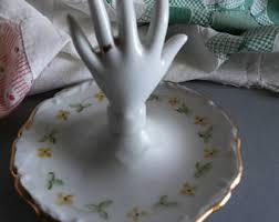shabby chic cat ring holder images Vintage hand ring holder etsy jpg