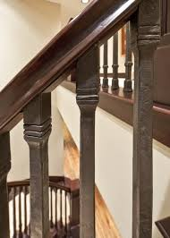 Mahogany Banister Iron Stair Railing Staircase Traditional With Custom Iron Custom