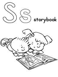 alphabet story book coloring coloring sun