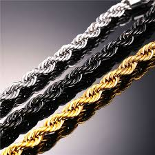 black rope chain necklace images Starlord rope chain necklace for men jewelry wholesale 316l jpg