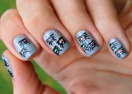 halloween nails spinning spiders varnishingpoint10