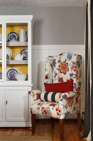 furniture how to reupholster a wingback chair with colorful