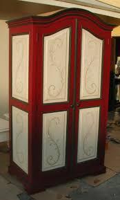 Sauder Computer Armoire Renaissance Architectural Renaissance Hand Painted Armoires