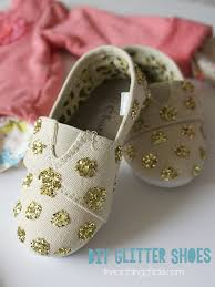 Decorate Shoes Diy Glitter Shoes The Crafting