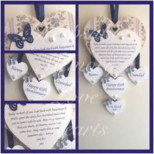 65th anniversary gift 65th sapphire anniversary gift personalised wooden keespake
