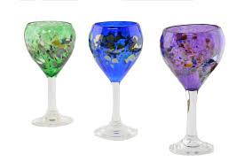 wine goblet glasses u2013 arte vargas glass blowing studio