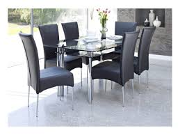 Glass Dining Tables And 6 Chairs Clear Glass Dining Table And 6 Chairs Chair Evashure