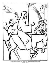 7 images of jesus on donkey coloring page palm sunday coloring