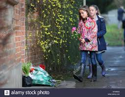 goring george michael children lay flowers outside the goring house of george michael in