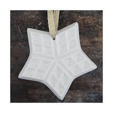 helle grej ceramics handmade christmas ornament star cookie
