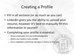 how to create best linkedin profile how to create a linkedin profile bryant u0026 stratton college