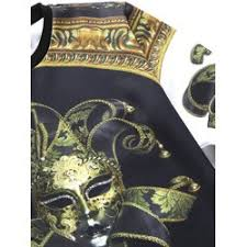 latest comfortable trend round neck 3d mask print long sleeve